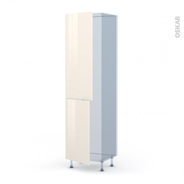 KERIA Ivoire - Kit Rénovation 18 - Armoire frigo N°2724  - 2 portes - L60xH217xP60