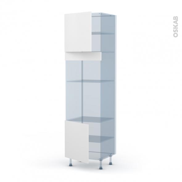 GINKO Blanc - Kit Rénovation 18 - Colonne Four+MO 36/38 N°1616 - 2 portes - L60xH217xP60