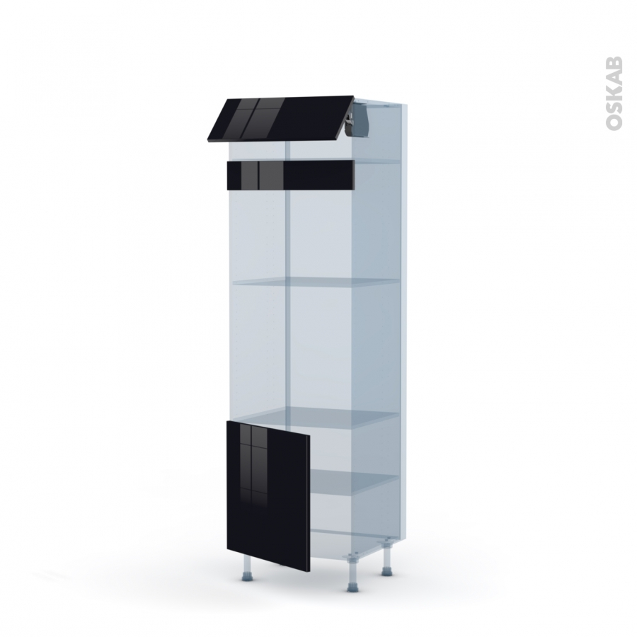 keria noir kit r novation 18 colonne four mo 45 n 516 1 abattant 1 porte l60xh195xp60 oskab. Black Bedroom Furniture Sets. Home Design Ideas