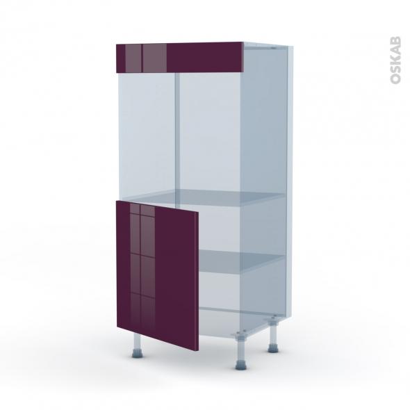 KERIA Aubergine - Kit Rénovation 18 - Colonne Four N°16  - 1 porte - L60xH125xP60