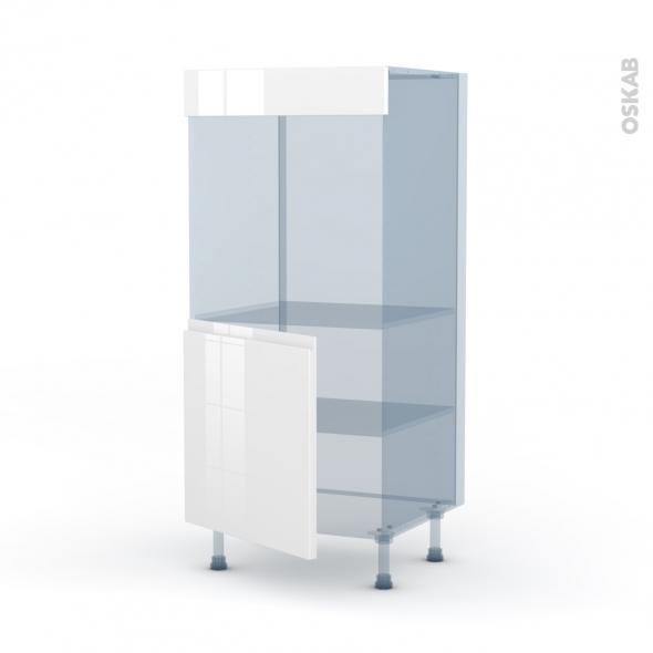 IPOMA Blanc brillant - Kit Rénovation 18 - Colonne Four N°16  - 1 porte - L60xH125xP60