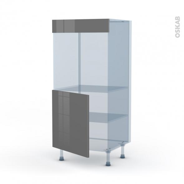 STECIA Gris - Kit Rénovation 18 - Colonne Four N°16  - 1 porte - L60xH125xP60