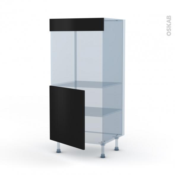 GINKO Noir - Kit Rénovation 18 - Colonne Four N°16  - 1 porte - L60xH125xP60