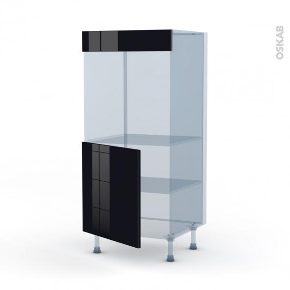 KERIA Noir - Kit Rénovation 18 - Colonne Four N°16  - 1 porte - L60xH125xP60