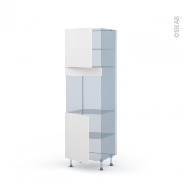 GINKO Blanc - Kit Rénovation 18 - Colonne Four N°1621 - 2 portes - L60xH195xP60