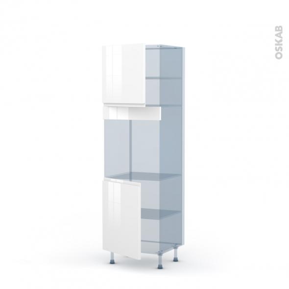 IPOMA Blanc - Kit Rénovation 18 - Colonne Four N°1621  - 2 portes - L60xH195xP60