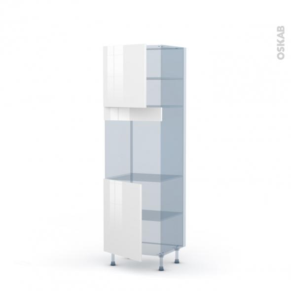 STECIA Blanc - Kit Rénovation 18 - Colonne Four N°1621  - 2 portes - L60xH195xP60