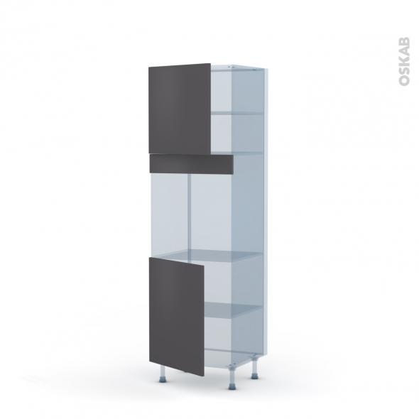 GINKO Gris - Kit Rénovation 18 - Colonne Four N°1621  - 2 portes - L60xH195xP60