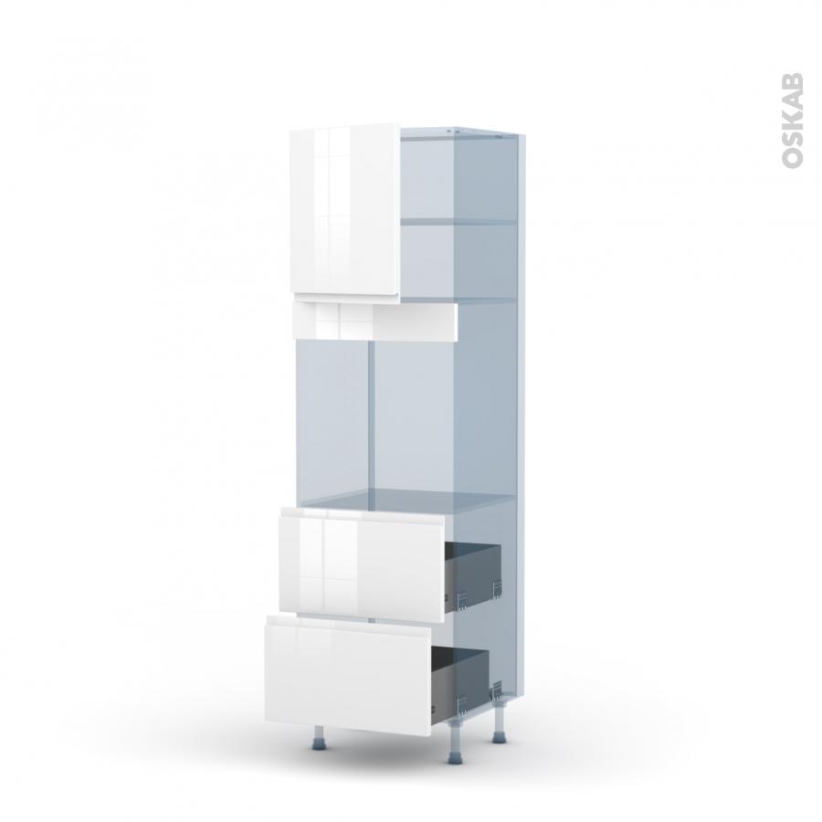 Ipoma blanc kit r novation 18 colonne four n 1657 1 porte for Renovation cuisine 3d