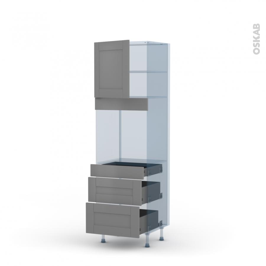 Filipen gris kit r novation 18 colonne four n 1658 1 porte for Four porte tiroir