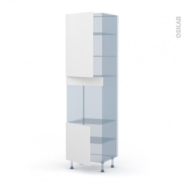GINKO Blanc - Kit Rénovation 18 - Colonne Four N°1624 - 2 portes - L60xH217xP60