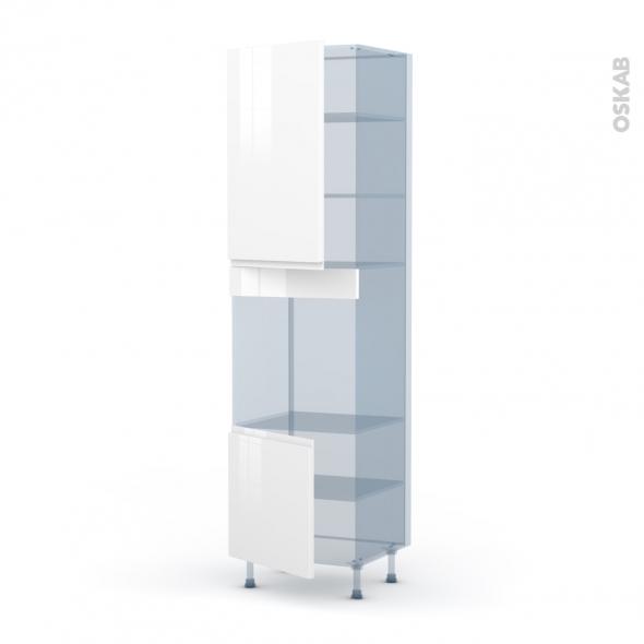 IPOMA Blanc - Kit Rénovation 18 - Colonne Four N°1624 - 2 portes - L60xH217xP60