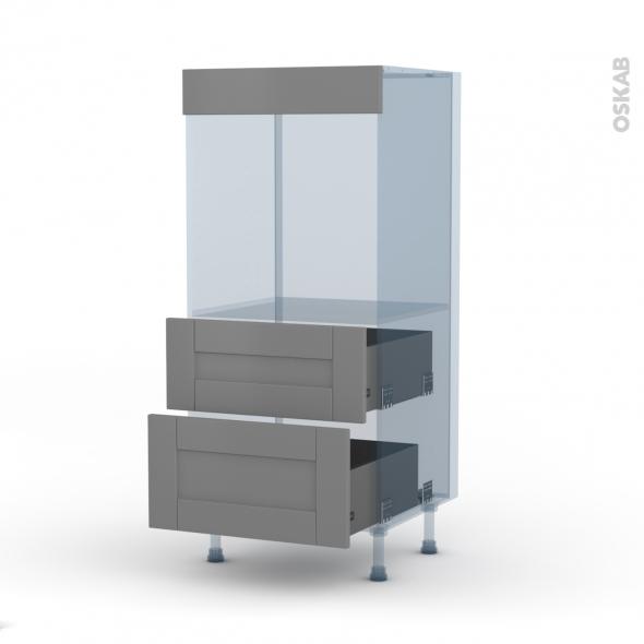 FILIPEN Gris - Kit Rénovation 18 - Colonne Four N°58  - 2 casseroliers - L60xH125xP60