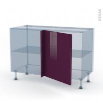 KERIA Aubergine - Kit Rénovation 18 - Meuble angle bas - 1 porte N°21 L60 - L120xH70xP60