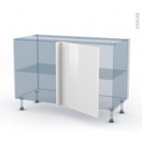 STECIA Blanc - Kit Rénovation 18 - Meuble angle bas - 1 porte N°21 L60 - L120xH70xP60