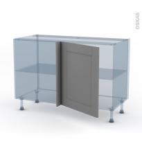 FILIPEN Gris - Kit Rénovation 18 - Meuble angle bas - 1 porte N°21 L60 - L120xH70xP60