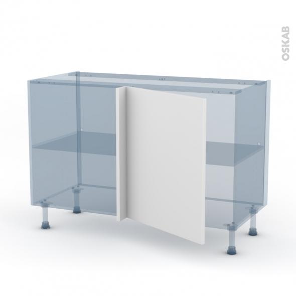 GINKO Blanc - Kit Rénovation 18 - Meuble angle bas - 1 porte N°21 L60 - L120xH70xP60