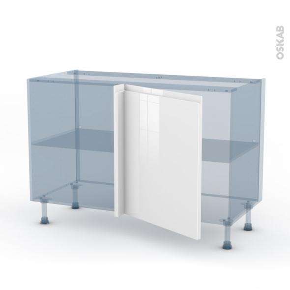 IPOMA Blanc brillant - Kit Rénovation 18 - Meuble angle bas - 1 porte N°21 L60 - L120xH70xP60