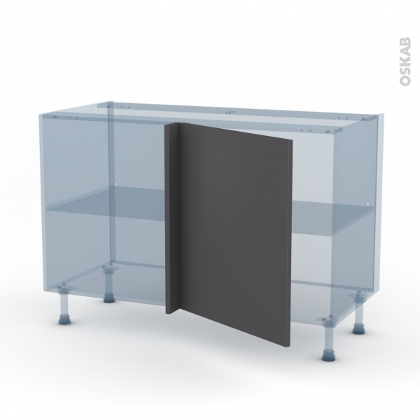 GINKO Gris - Kit Rénovation 18 - Meuble angle bas - 1 porte N°21 L60 - L120xH70xP60