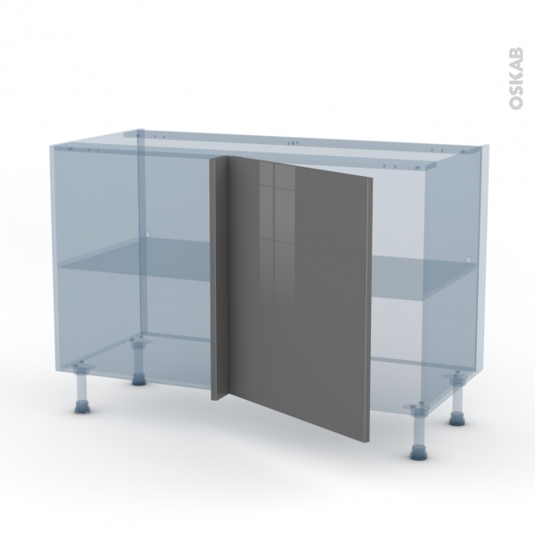 STECIA Gris - Kit Rénovation 18 - Meuble angle bas - 1 porte N°21 L60 - L120xH70xP60