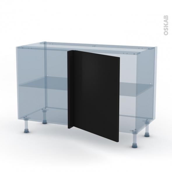GINKO Noir - Kit Rénovation 18 - Meuble angle bas - 1 porte N°21 L60 - L120xH70xP60