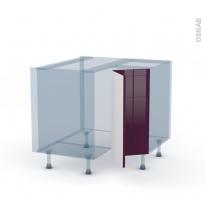 KERIA Aubergine - Kit Rénovation 18 - Meuble angle bas - 2 portes N°76 L30 - L90xH70xP60