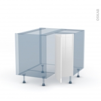 STECIA Blanc - Kit Rénovation 18 - Meuble angle bas - 2 portes N°76 L30 - L90xH70xP60