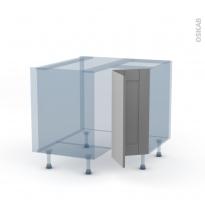 FILIPEN Gris - Kit Rénovation 18 - Meuble angle bas - 2 portes N°76 L30 - L90xH70xP60