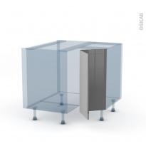 STECIA Gris - Kit Rénovation 18 - Meuble angle bas - 2 portes N°76 L30 - L90xH70xP60