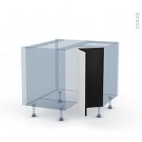 GINKO Noir - Kit Rénovation 18 - Meuble angle bas - 2 portes N°76 L30 - L90xH70xP60