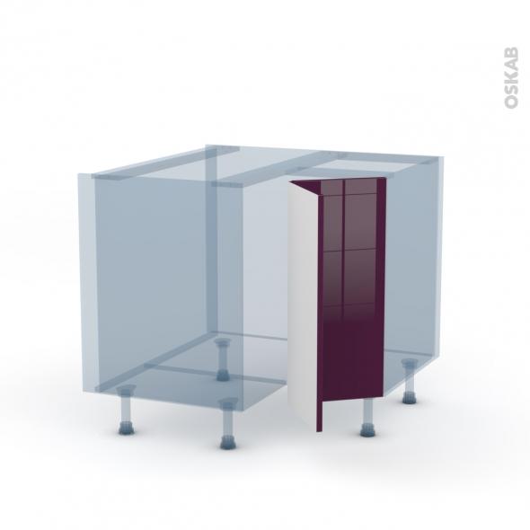 Keria Aubergine Kit Rénovation 18 Meuble Angle Bas 2 Portes N 76 L30 L90xh70xp60 Oskab