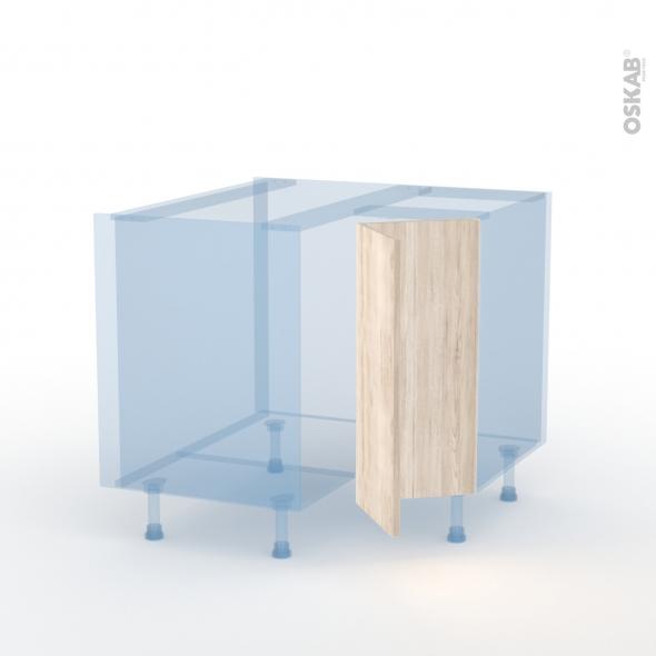 IKORO Chêne Clair - Kit Rénovation 18 - Meuble angle bas - 2 portes N°76 L30 - L90xH70xP60