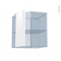 STECIA Blanc - Kit Rénovation 18 - Meuble angle haut - 1 porte N°77 L32 - L60xH70xP37,5