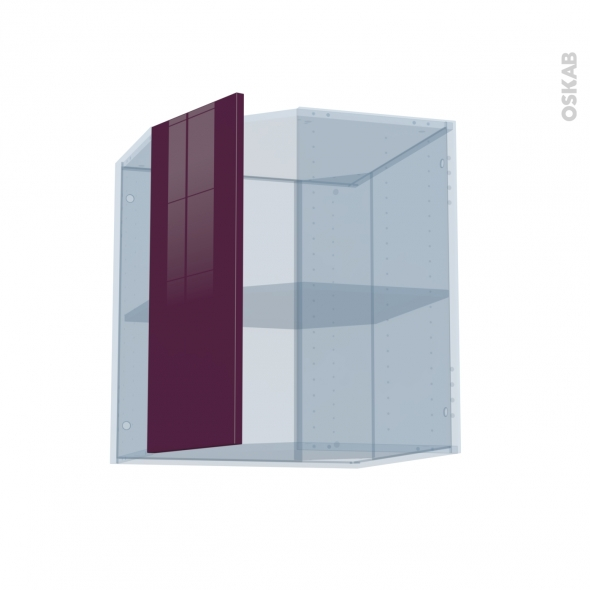 KERIA Aubergine - Kit Rénovation 18 - Meuble angle haut - 1 porte N°77 L32 - L60xH70xP37,5