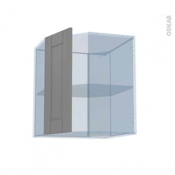 FILIPEN Gris - Kit Rénovation 18 - Meuble angle haut - 1 porte N°77 L32 - L60xH70xP37,5