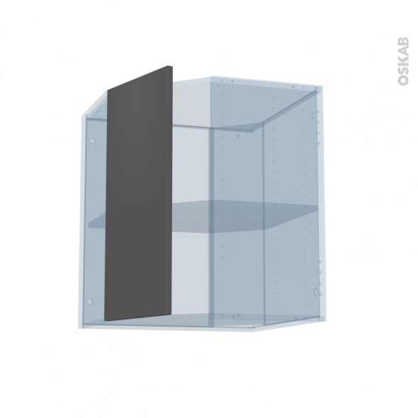 GINKO Gris - Kit Rénovation 18 - Meuble angle haut - 1 porte N°77 L32 - L60xH70xP37,5