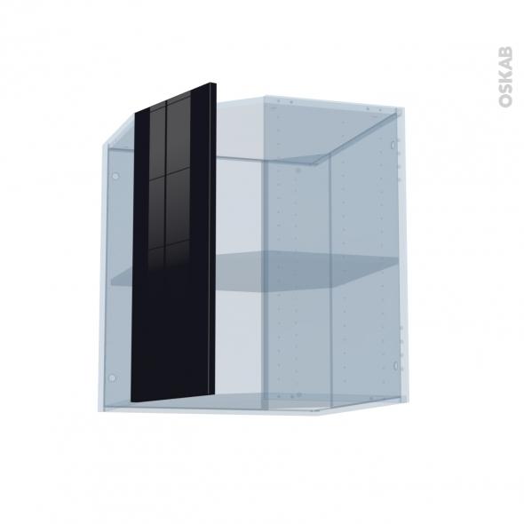 KERIA Noir - Kit Rénovation 18 - Meuble angle haut - 1 porte N°77 L32 - L60xH70xP37,5