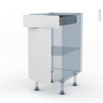 GINKO Blanc - Kit Rénovation 18 - Meuble bas cuisine - 1 porte 1 tiroir - L40xH70xP60
