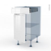 IPOMA Blanc - Kit Rénovation 18 - Meuble bas cuisine  - 1 porte 1 tiroir - L40xH70xP60