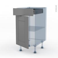 FILIPEN Gris - Kit Rénovation 18 - Meuble bas cuisine  - 1 porte 1 tiroir - L40xH70xP60