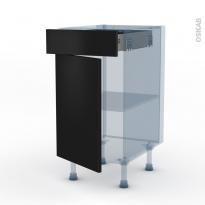 GINKO Noir - Kit Rénovation 18 - Meuble bas cuisine  - 1 porte 1 tiroir - L40xH70xP60