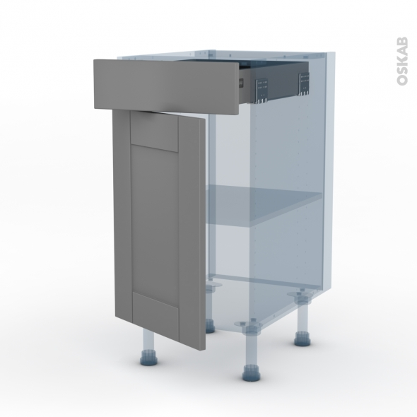 Filipen Gris Kit Renovation 18 Meuble Bas Cuisine 1 Porte 1 Tiroir L40xh70xp60 Oskab