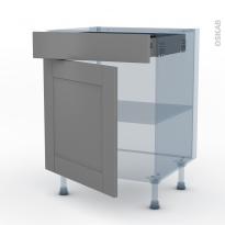 FILIPEN Gris - Kit Rénovation 18 - Meuble bas cuisine  - 1 porte 1 tiroir - L60xH70xP60