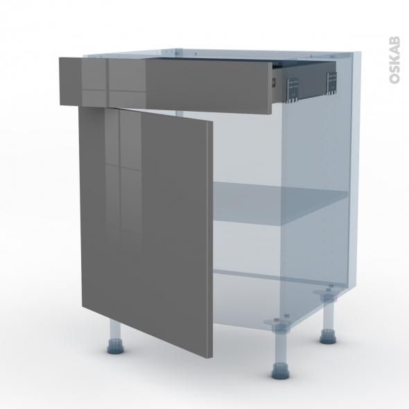 stecia gris kit r novation 18 meuble bas cuisine 1 porte 1 tiroir l60xh70xp60 oskab. Black Bedroom Furniture Sets. Home Design Ideas