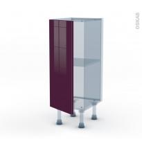 KERIA Aubergine - Kit Rénovation 18 - Meuble bas prof.37  - 1 porte - L30xH70xP37,5