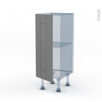 FILIPEN Gris - Kit Rénovation 18 - Meuble bas prof.37  - 1 porte - L30xH70xP37,5