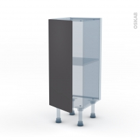 GINKO Gris - Kit Rénovation 18 - Meuble bas prof.37  - 1 porte - L30xH70xP37,5