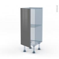 STECIA Gris - Kit Rénovation 18 - Meuble bas prof.37  - 1 porte - L30xH70xP37,5
