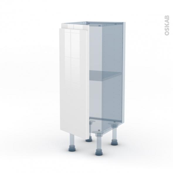 IPOMA Blanc - Kit Rénovation 18 - Meuble bas prof.37  - 1 porte - L30xH70xP37,5