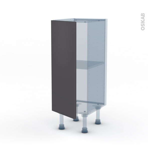 ginko gris kit r novation 18 meuble bas 1 porte l30xh70xp37 5 oskab. Black Bedroom Furniture Sets. Home Design Ideas